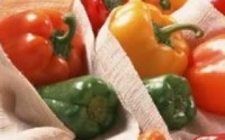 Как хранить дома болгарский перец?