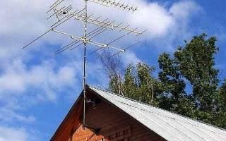 Как установить телевизионную антенну на даче?