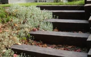 Как сделать лестницу на склоне на даче?