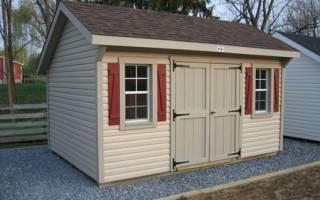 Как самому построить сарай на даче?