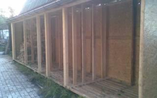 Как построить дровяник на даче?