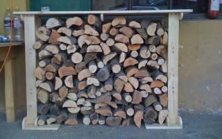 Хранение дров на дачном участке