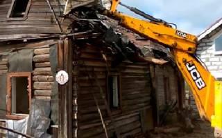 Демонтаж строений на дачном участке