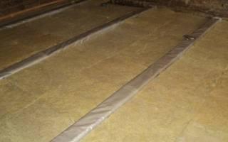 Как сделать утеплённый пол на даче?