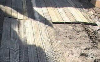 Дачные дорожки из покрышек