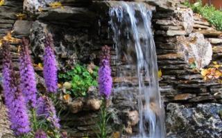 Как самому сделать водопад на даче?